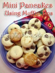 Mini Pancakes using Muffin Tins