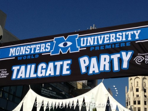 Monsters University Premiere Tailgate Party