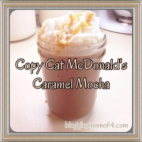 Copy Cat McDonalds Caramel Mocha Recipe