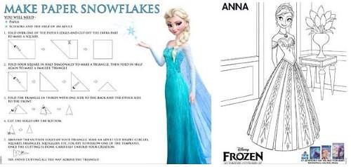 Disney's Frozen – New Activity Sheets #DisneyFrozenEvent