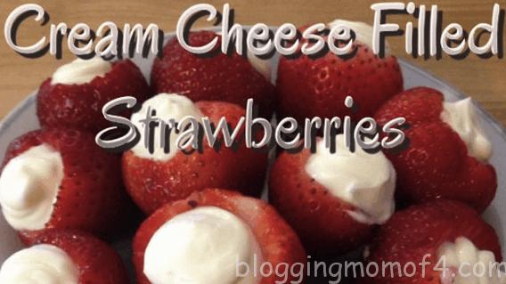 cream cheese stuffed strawberries