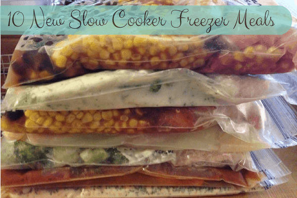 10 New Slow Cooker Freezer Meals