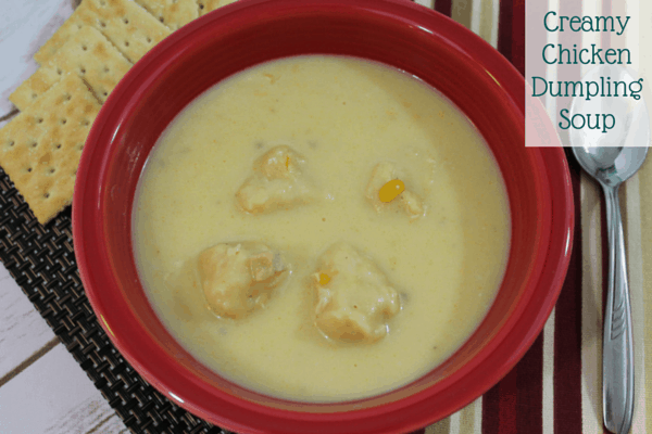 This Creamy Chicken Dumpling Soup is such an easy soup to make that you can make it anytime. The best time to make it is when you have left over chicken.