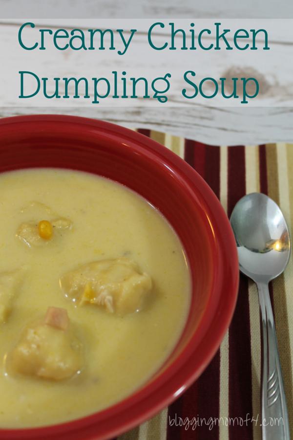 Creamy Chicken Dumpling Soup Recipe