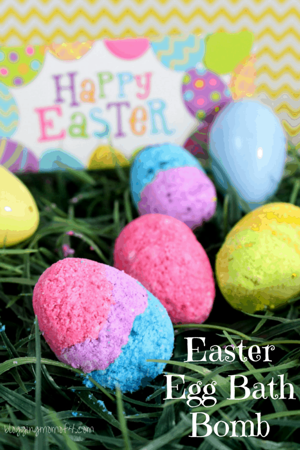 Looking for a great DIY craft to make? This DIY Easter Egg Bath Bomb Recipe is fun to make and you'll have weeks worth of amazing baths! Fill with your favorite essential oils and melt your stress away!