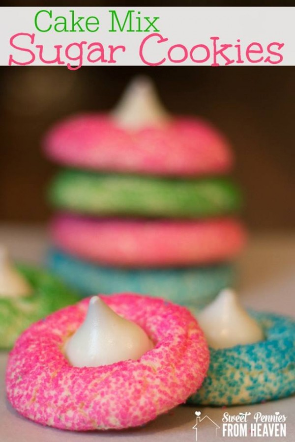 Cake Mix Sugar Cookies 12 Days of Easter Recipes and Crafts