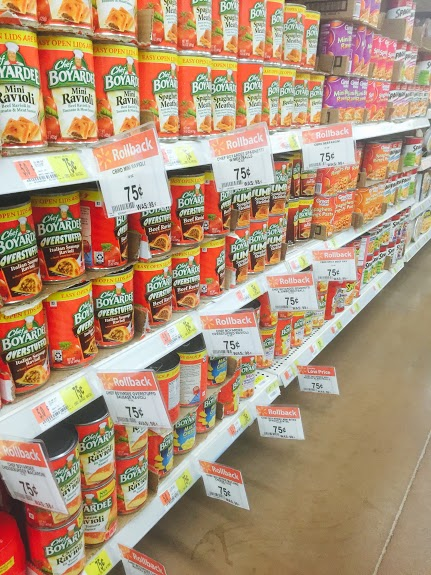 Now through March 16, 2015, each 14.5-15 oz can of Chef Boyardee rollback at Walmart for only $0.75. Chef Boyardee raviolis, mac & cheese, and spaghetti and meatballs are just some of the varieties you can enjoy at a low price.