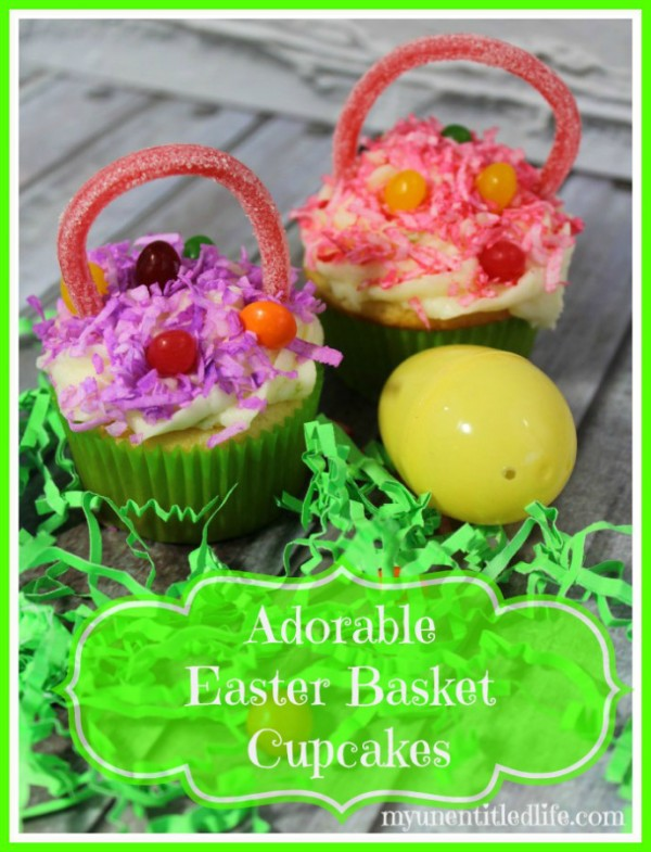This is one from my friend Dina over at My UnEntitled Life. She has made some adorable Easter Basket Cupcakes for you to check out.