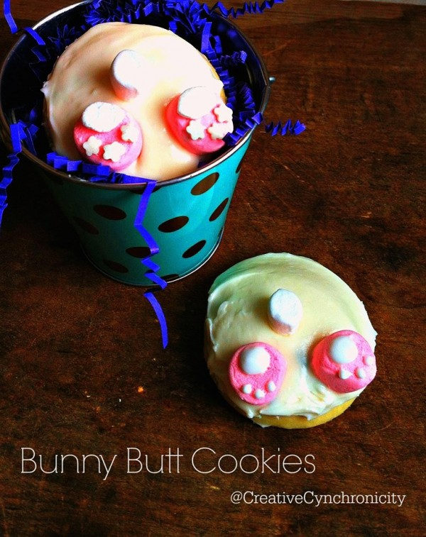 Easter Bunny Butt Cookies 12 Days of Easter