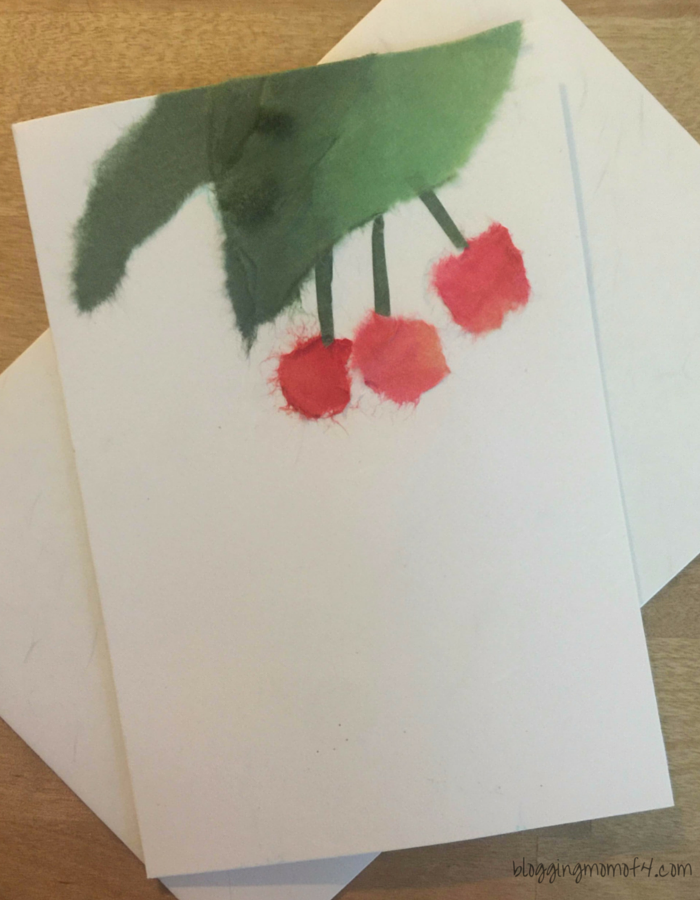 "This is our second piece of Biri Biri that we've done. This is ""Cherries"" and is a wonderful way to create a homemade greeting card."