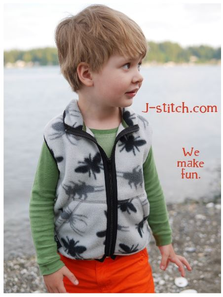 ... people wanted to know where they could get a backpack vest for their kid. Good news--now the Quinn Vest is exclusively available at j-stitch.com.