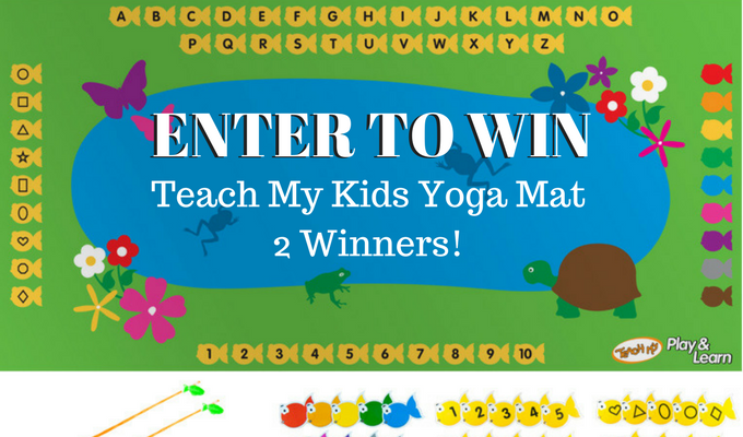 GIVEAWAY - Teach My Fish and Learn Yoga Mat 2 winners! @teachmy #yogaforkids