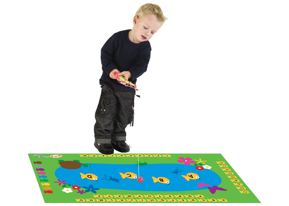 We love Teach My. They have a variety of awesome products perfect for early learning. The Fish and Learn Kids Yoga Mat Set is the newest product.