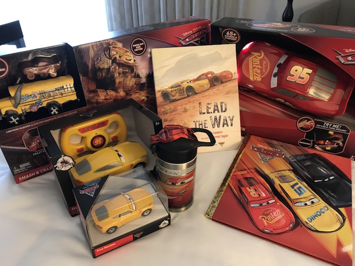 While in California for the Cars 3 Event, we got to see the Cars 3 Toys. Plus we got to take a few home with us. That's always a bonus. My kids are a little bit older but the Cars 3 toys still grabbed their attention.
