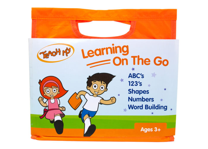 I love that Teach My has come out with these Learning On The Go kits. They are perfect for not only long road trips but anywhere you need to go. Especially when the kids are little, their attention spans are not long. Bringing with different activities can save you from a meltdown.