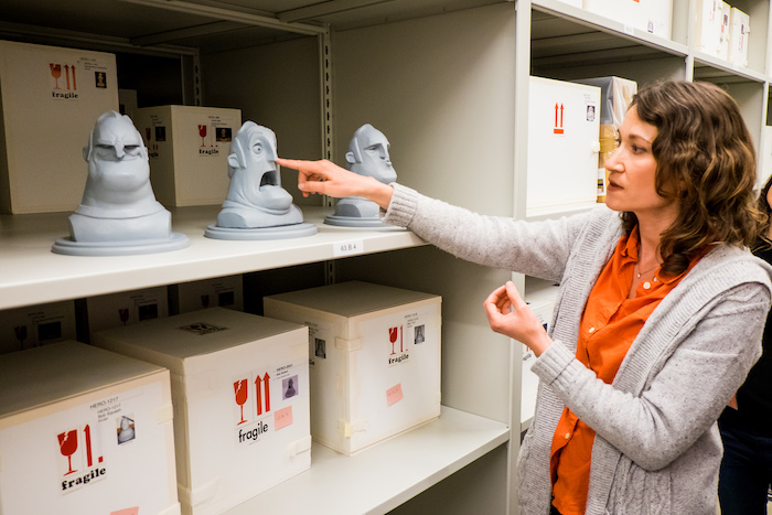Our visit to Pixar Studios also included a tour of the Pixar Studios Archives. Exhibitions archivist Melissa Woods and Archives Manager Juliet Roth were kind enough to give us a look inside and idea of what their job consists of.