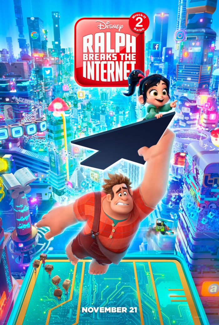 All New trailer and poster for RALPH BREAKS THE INTERNET: WRECK-IT RALPH 2! The Princess scene is hilarious! Let me know what you think. #RalphBreaksTheInternet