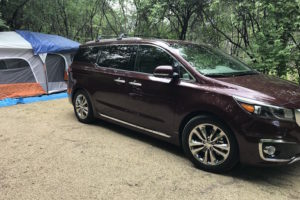 Packed up our Kia Sedona for a Weekend of Camping! Grab this FREE Camping Checklist Printable! #KiaSedona #KiaFamily