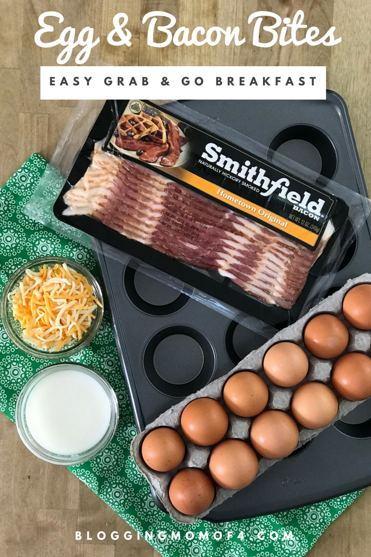 With a little of prep over the weekend, you can make these Egg and Bacon Bites and have an easy grab and go breakfast for the weekdays.