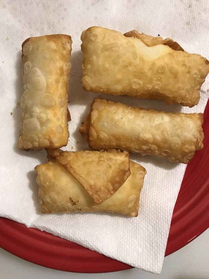 We've been experimenting with egg roll wrappers and decided to make these Cream Cheese Egg Rolls. Easy to make, delicious, and good any time of the year!