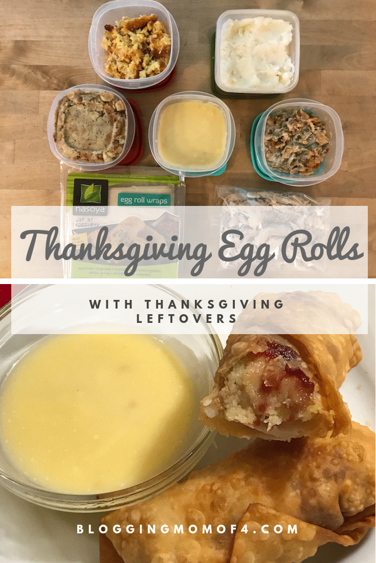 "I just discovered a new recipe for Thanksgiving leftovers. I think I might actually like Thanksgiving Egg Rolls more than the ""normal"" Thanksgiving meal."