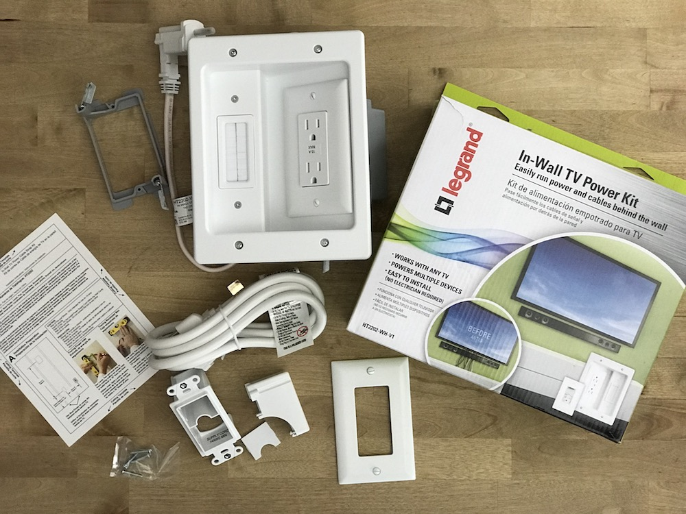 With Legrand In-Wall TV Power Kit you can now easily run power and cables behind the wall. It's a DIY so no electrician needed and it is compatible with any TV brand.
