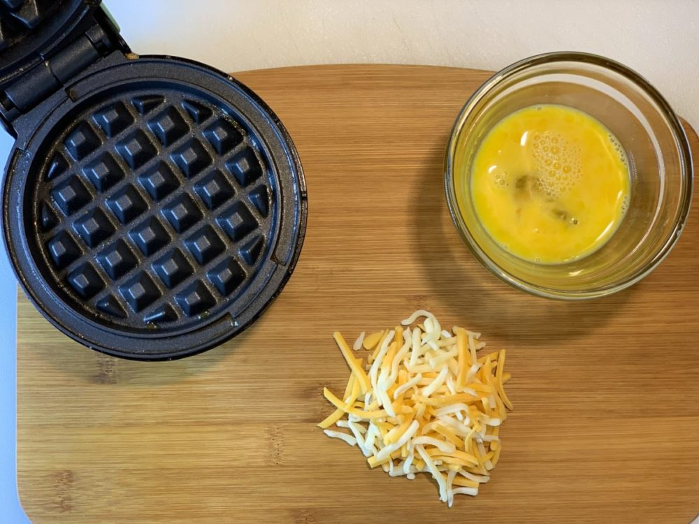 Say What? What is a Chaffle? For those of us on the Keto journey, you may have recently heard of the Chaffle. Here's a good basic keto chaffle recipe.