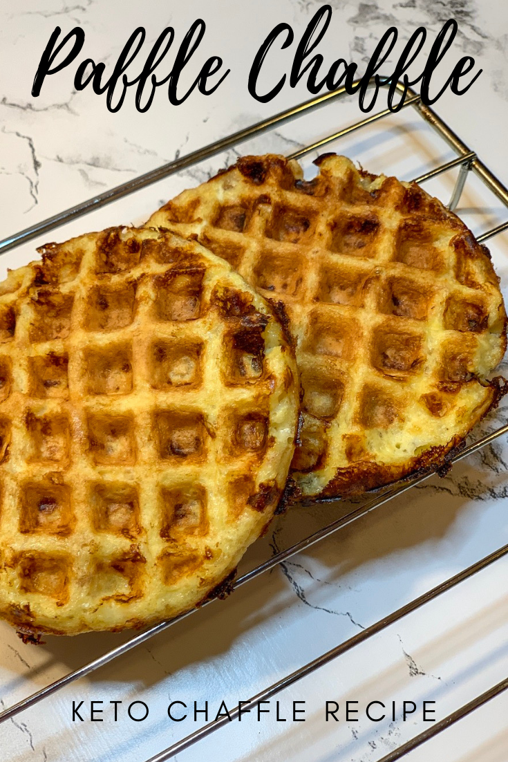 I tried a new chaffle recipe today. This one uses pork rinds - paffle chaffle. It offers a different texture with a little extra crunch.