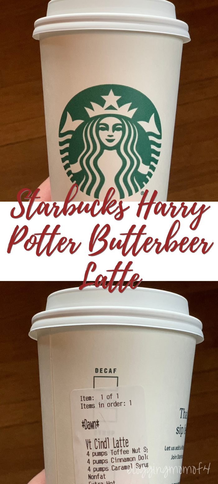 Starbucks Harry Potter Butterbeer Latte