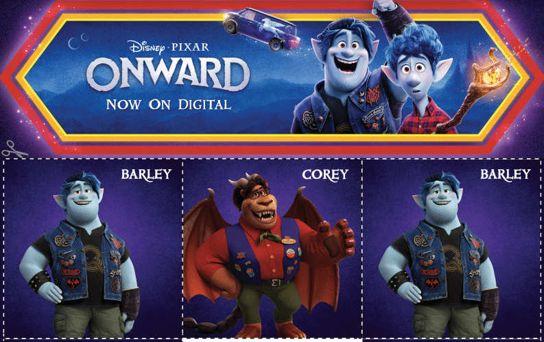 Onward Activity Pages Plus Now available Digitally and Soon on Disney+ #PixarOnward