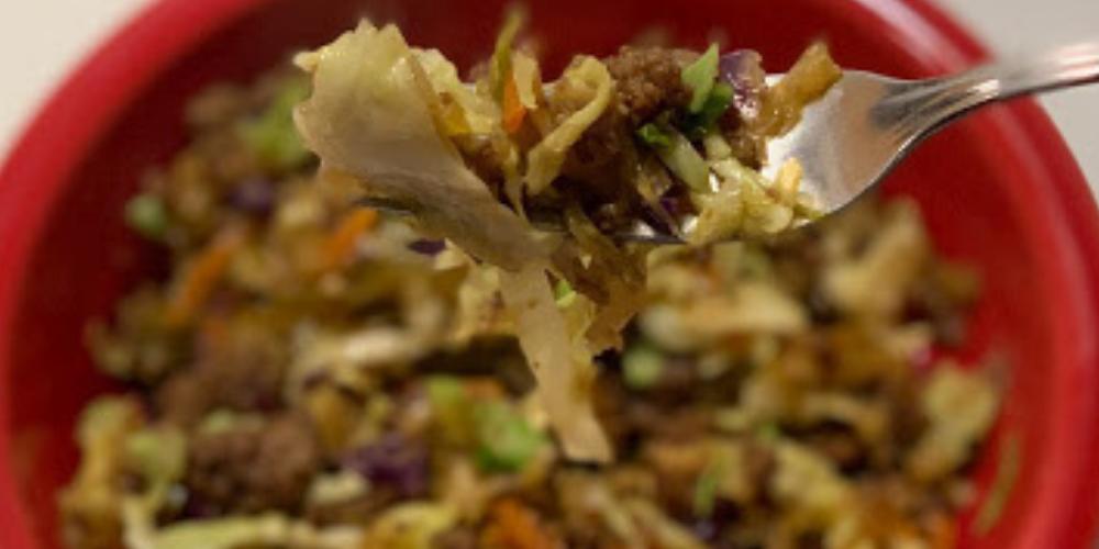 Inside Out Egg Rolls Keto Instant Pot Recipe